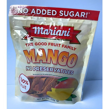 Mariani Dried Mangoes 4 oz Package No Preservatives No Sugar Added