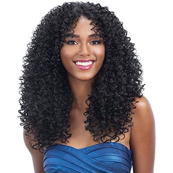 HARMONY 117 (1B Off Black) - MilkyWay Human Hair Blend Lace Front Wig