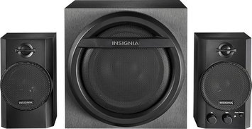 Insignia - 2.1 Bluetooth Speaker System (3-piece) - Black