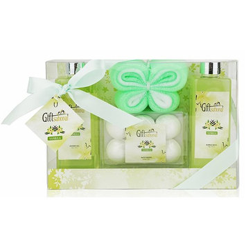 Spa Gift Basket with Seductive Vanilla Fragrance - Perfect Graduation, Wedding, Birthday, or Anniversary Gift for Women - Spa Bath Gift Set Includes Shower Gel, Bubble Bath, Bath Bombs and More!