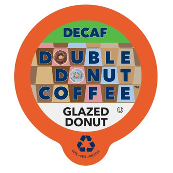 Double Donut, Decaf Glazed Donut Flavored Coffee K-Cups, 80 Ct