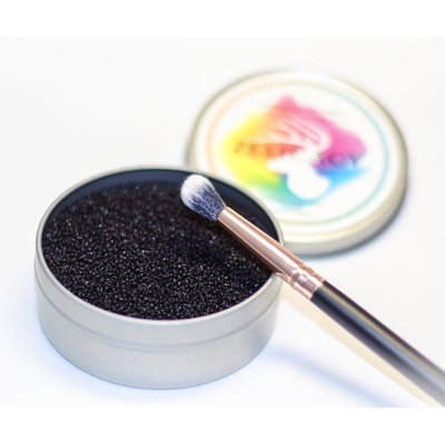 Zelicacy 2 in1 Makeup Brushes Color Switch & Removal Dry Sponge Kit with Case | One More Refill Dry Sponge | Instantly Switch and Remove Color from Eyeshadow Makeup or Blush Brushes