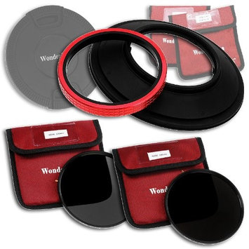 Fotodiox WonderPana 145 Neutral Density Kit - 145mm Filter Holder, Lens Cap, ND16 and ND32 Filters for the Canon 14mm Super Wide