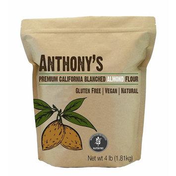 Anthony's Blanched Gluten Free Almond Flour (4 lb) Gluten Free & Non-GMO