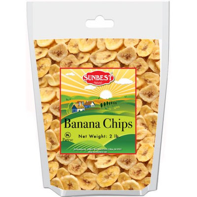 SUNBEST Banana Chips 2 Lbs in Resealable Bag