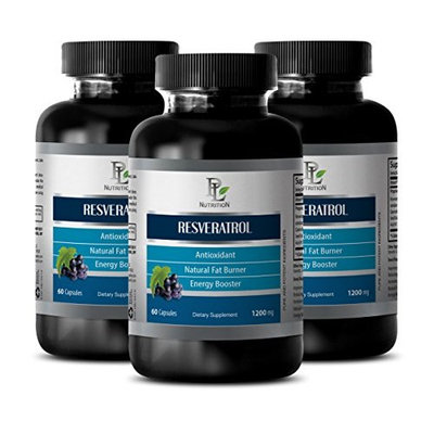 Nervous system supplements - RESVERATROL - Pomegranate extract - 3 Bottles 180 Capsules