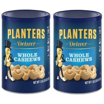 Planters Deluxe Whole Cashew Nuts, 1 LB 2.25 OZ (2 Pack)