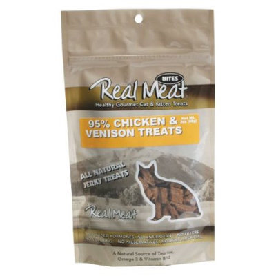 Real Meat Company 30504 3oz - Chicken and Venison Treats Cat