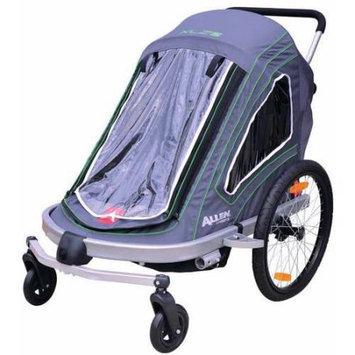 Allen Sports XLZ2 Aluminum 2-Child Bike Trailer/Single and Double Swivel Wheel Stroller