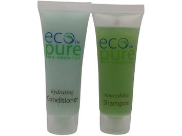 Eco Pure Nourishing Shampoo and Hydrating Conditioner Lot of 18 (9 of each) 1oz Bottles