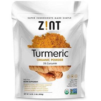 ZINT 674025 Organic Turmeric Powder 16 oz - Case of 12