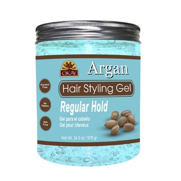 Okay OKAY-ARGANG34 34.5 oz Argan Hair Styling Gel Regular Hold