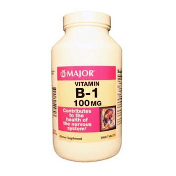 MAJOR B-1 100MG TABS? THIAMINE HYDROCHLORIDE-100 MG White 1000 TABLETS UPC