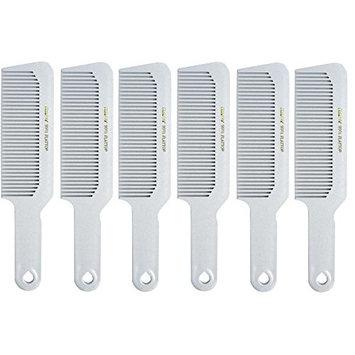 Barber Beauty Hair Krest 9001 8 3/4 Flattop Comb (6 Pack) 6 x SB-K9001-WHITE