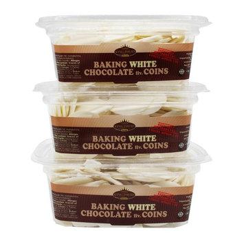 King David Kosher Easy Melt White Baking Chocolate Coins 12.34-ounce Jars (Pa...