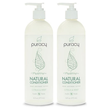 Puracy Natural Daily Conditioner Set [2-Pack], Vegan, Hypoallergenic, Salon Tested for All Hair Types, 16 Ounce Pump Bottle [Set of 2]