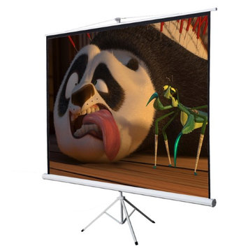 Onebigoutlet 100 Tripod Projection Screen Projector HD Home Movie, Matte White, 16:9, 84x49