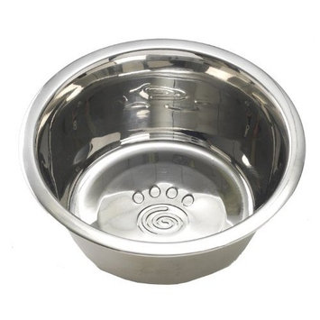 Petrageous Stainless Steel Pet Bowls Barbados Basic Ss Bowl, 1-Count