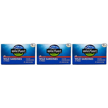 Wild Planet, Sardines No Salt in Water, 4.4 Ounce (36-(Pack))
