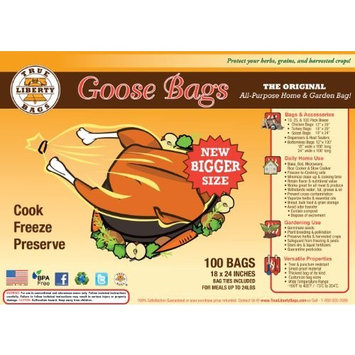 True Liberty Bags - Goose 100 Pack - all Purpose Home Garden Bags [100 Pack]