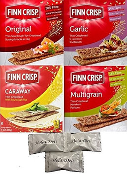 Assorted Finn Crisp Crispbread 4 Flavors. Includes Our Exclusive HolanDeli Chocolate Mints