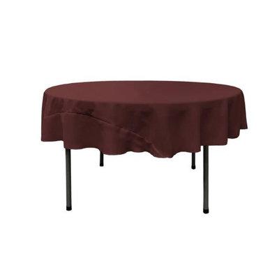 LA Linen TCpop72R-BurgundyP17 Polyester Poplin Tablecloth Burgundy - 72 in. Round