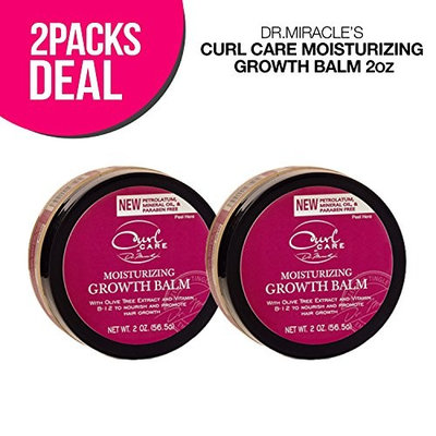 Dr. Miracle's Curl Care Moisturizing Growth Balm 2oz (2-Pack)