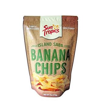 Sun Tropics Island Saba Thin Banana Chips 6oz (1 Pack)