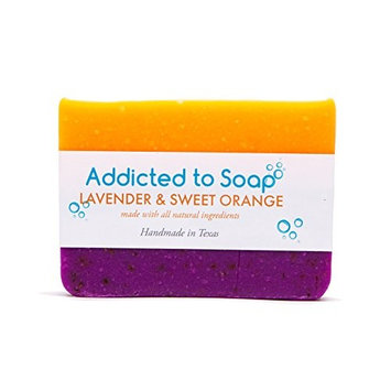 Addicted to Soap – Lavender & Sweet Orange Soap | Specially Formulated – All Natural Ingredients for Perfectly Clean Skin and a Beautifully Refreshing Scent - Handmade with Love in Texas