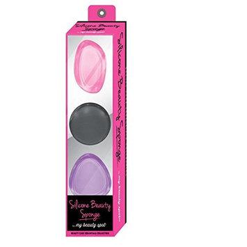 My Beauty Spot 3 Piece Super Smooth Silicone Makeup Sponge Set - Hot Pink, Purple, Black