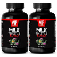 Thistle herb - MILK THISTLE EXTRACT - Pain relief capsules - 2 Bottle 120 Capsules