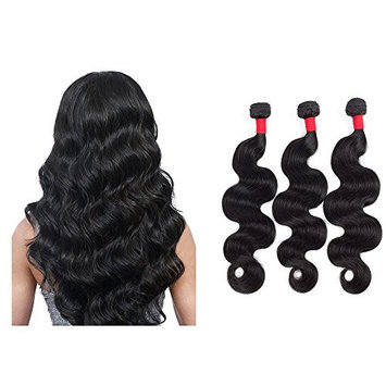100% Human Virgin Hair On Sale Three Bundles Brazilian Virgin Hair Body Wave Remy Human Hair 3 Bundles Weaves 100% Unprocessed Hair...