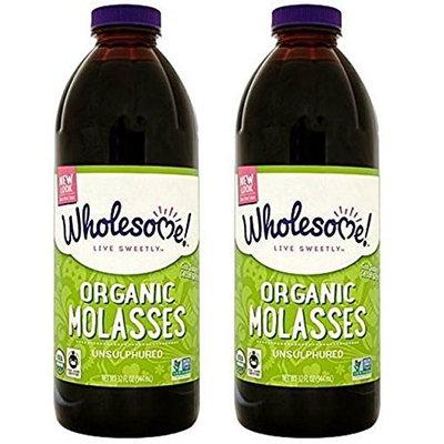 Wholesome Sweeteners - Organic Molasses Unsulphured - 32 Fl Oz (Pack of 2)