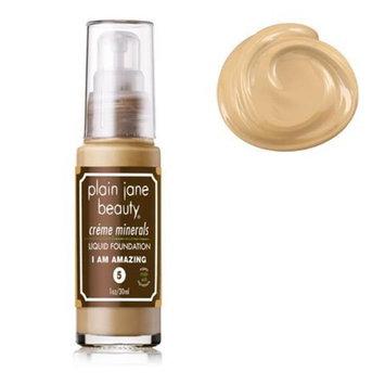 Plain Jane Beauty 232007 I Am Amazing 5 Creme Minerals Liquid Foundation