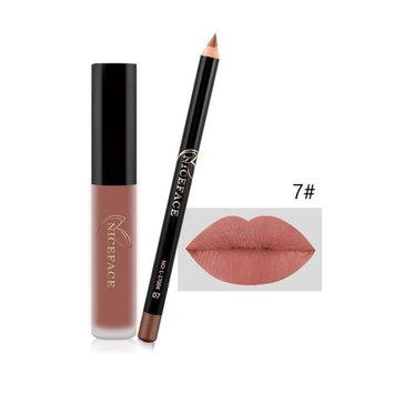 Lipstick Set,Putars Fashion Sexy Cosmetic Lipliner Pen Pencil +Hot Waterproof Matte Lip Gloss Fashion Makeup Lipstick