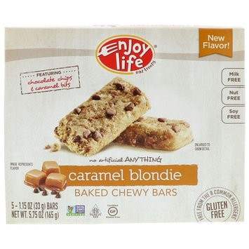 Enjoy Life Foods, Baked Chewy Bars, Caramel Blondie, 5 Bars, 1.15 oz (33 g) Each [Flavor : Caramel Blondie]