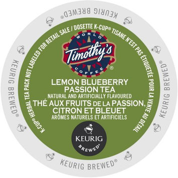 Keurig Timothy's World Coffee Lemon Blueberry Passion Tea K-Cups