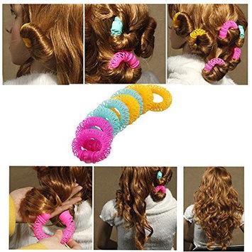 FTXJ Magic Donut Plastic Hair Curler DIY Bendy Hair Styling Roller Spiral Curls Tool