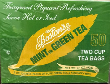 Boston Tea Boston's Mint -in- Green Tea 50ct Box