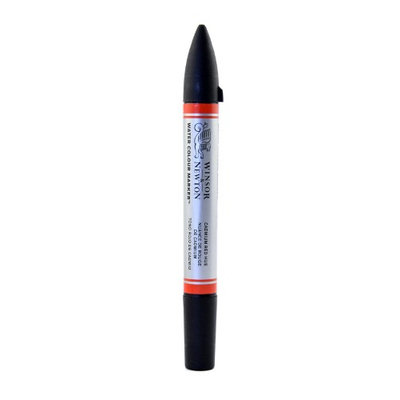 Winsor & Newton Water Colour Markers cadmium red hue, 095 [pack of 3]