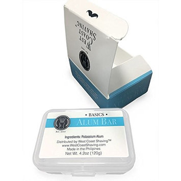 WCS Basics Alum Aftershave Bar Block for Skin Protection 120g