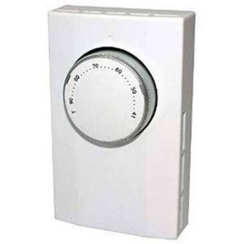 King Electrical K101 Thermostat 277 Volt 22 Amp 1-Pole Wall Mount White