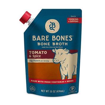 Beef Bone Broth - Grass-fed, Organic, Tomato & Spice, Protein-rich, 16 oz (4-pack)