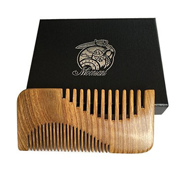 Beard Comb-Green Sandal Wood Comb-Cool Pocket Comb for Men's Hair Beard Mustache and Sideburns - Perfect for Balm and Oils
