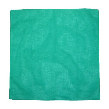 CTM® Unisex Individually Folded and Packaged Solid Color Cotton Bandana, Green