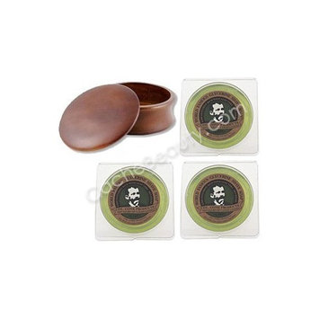 Three Lime Shave Soaps And Kingsley Shave Bowl Dark Wood