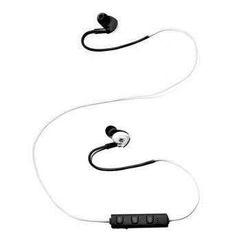 Zunammy Z Budz Wireless Bluetooth Noise Reducing Earbuds Sport Headphones - White/Black