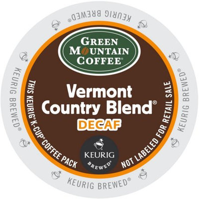 Green Mountain Vermont Country Blend Decaf Coffee, K-Cup Portion Pack for Keurig Brewers