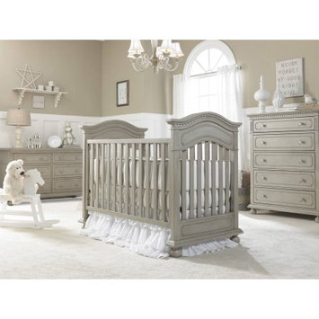 Bivona & Company, Llc Dolce Babi Naples 3-in-1 Fixed-Side Convertible Traditional Crib, Grey Satin