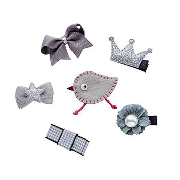 6Pcs Six Different Style Mini Hair Clip Baby Toddler Girls Cute Hair Clip Set-Model 2
